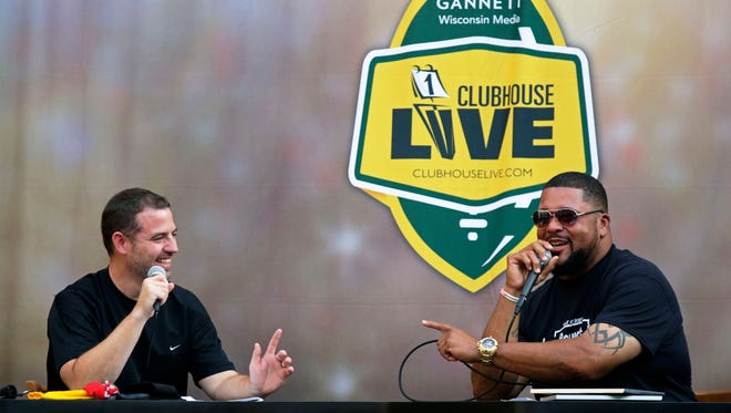 Green Bay Packers great Gilbert Brown (right) joined USA TODAY NETWORK-Wisconsin's Brett Christopherson on Monday's season premiere of Clubhouse. The show was held at the Radisson Paper Valley hotel in downtown Appleton.