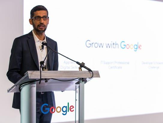 CEO Sundar Pichai says Google has made $1 billion philanthropic