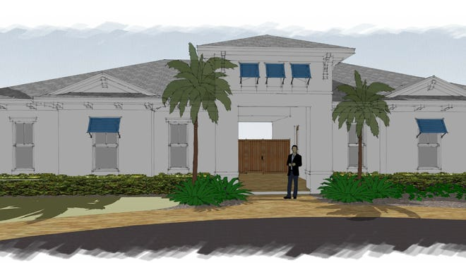 An artist's conception of the clubhouse to be built in Sapphire Cove, a new residential community off Collier Boulevard in South Naples.