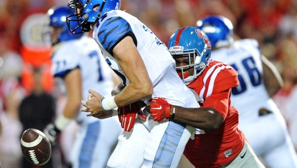 Ole Miss defensive end Marquis Haynes was named the SEC freshman of the week Monday.