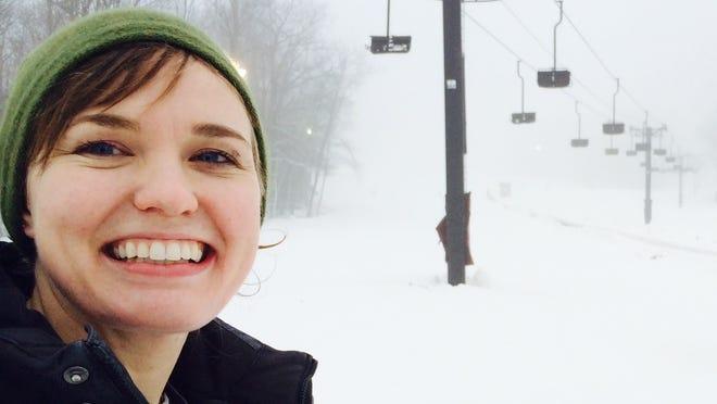 Nora Hertel stands at the bottom of the Granite Peak slopes on Nov. 22, 2014.