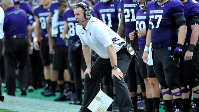 Northwestern coach Pat Fitzgerald's team is 4-0 for the third time in four years.