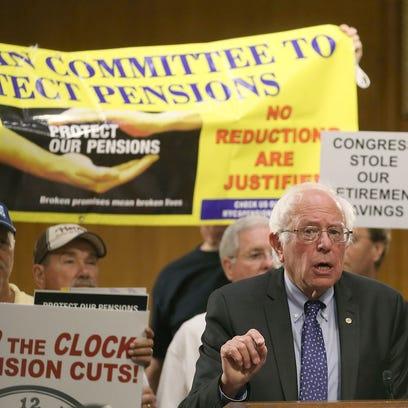 Democratic Presidential candidate U.S. Sen. Bernie
