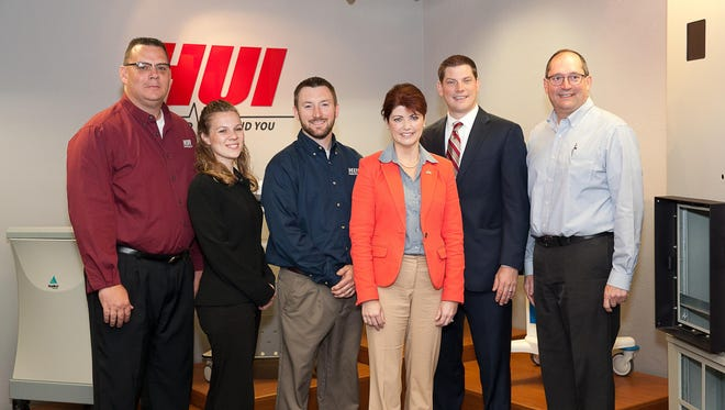 HUI in Kiel recently provided a tour for Lt. Gov. Rebecca Kleefisch and state Rep. Tyler Vorpagel of the 27th Assembly District. A discussion was also held focusing on HUI's team-based culture and its ongoing hiring needs.