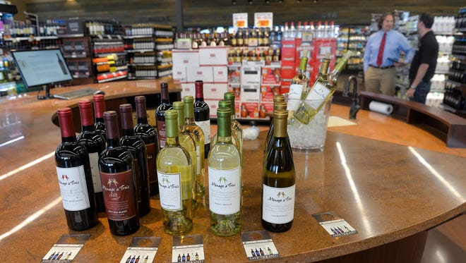 A wine-tasting area at the Sartell Coborn's Liquor store on Pinecone Road, shown in 2015.