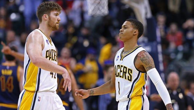 The Indiana Pacers waived forward/center Shayne Whittington, left, on Friday, July 29, 2016.