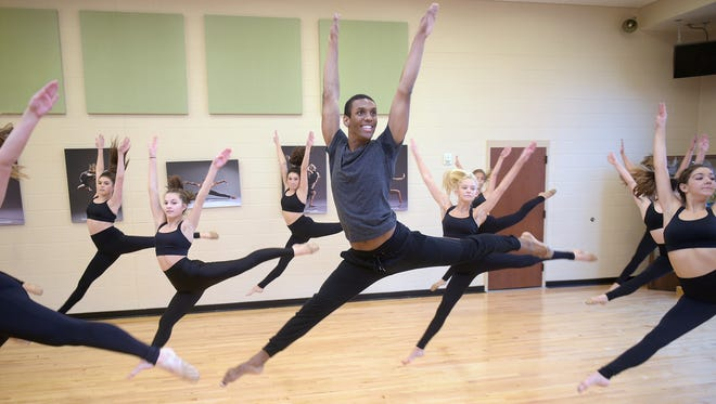 Brentwood Academy senior Tyler McNair dropped basketball to join the school's dance team. It's a risk that's paid off - McNair is the school's first male dancer on the dance team and the team won a state championship earlier this year. McNair practices with the dance team during school on Tuesday,  Jan. 3, 2017.
