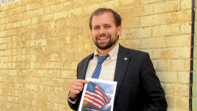 Tyler Francke of the Oregon Department of Veterans Affairs was excited to share news about upcoming Memorial Day events to honor veterans.