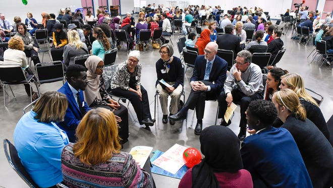 Participants in this years Conversations On Race focused on building relationships during small group discussions Tuesday, Oct. 17, at the River's Edge Convention Center.