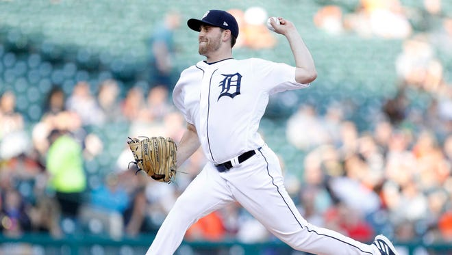 May 1, 2018; Detroit, MI, USA; Detroit Tigers starting pitcher Matthew Boyd pitches during the first inning against the Tampa Bay Rays at Comerica Park.