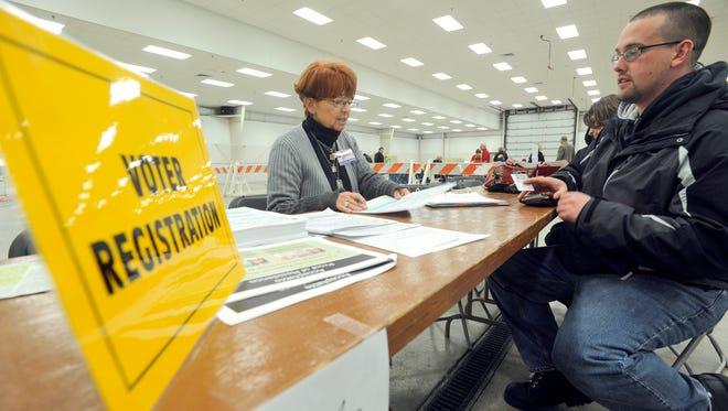 Voter registration in 2012.