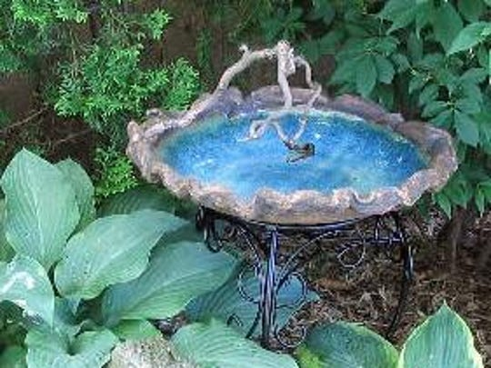 Bird baths and other handcrafted ceramics will be sold at the Village Potters Guild Spring Show.