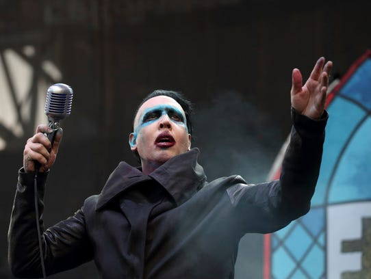 Marilyn Manson performs at the Rock on the Range Festival