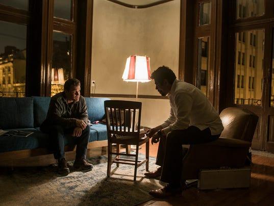 "Graver (Josh Brolin, left) has a new assignment for Alejandro (Benicio Del Toro) in ""Sicario: Day of the Soldado.""(Photo: RICHARD FOREMAN JR.)"