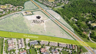 The new proposed development will stretch across 54 acres.