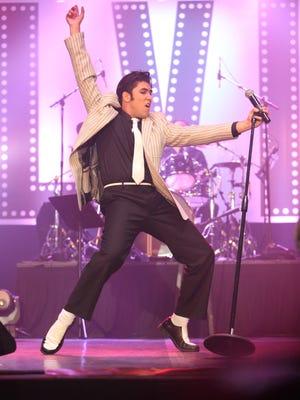 "Jacob Roman, of Glendale, Calif., participates in the 2015 ""Elvis Rocks Mesquite"" competition at the CasaBlanca Resort in Mesquite."