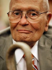 U.S. Rep. John Dingell (D-MI) participates in a news conference and rally to mark the 46th anniversary of the passage of Medicare in the U.S. Capitol Visitors Center July 27, 2011, in Washington, DC.