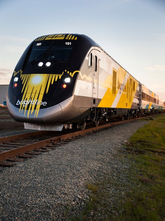 First Brightline train leaves Sacramento