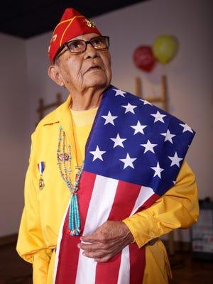 Navajo Code Talker David E. Patterson Sr. in 2011