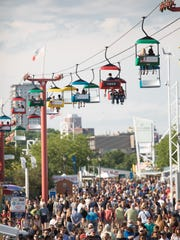 If you want to see Summerfest from above, the sky glider