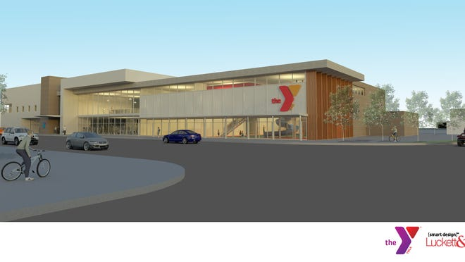A rendering of the proposed western Louisville branch of the YMCA at Broadway and Dixie Highway.