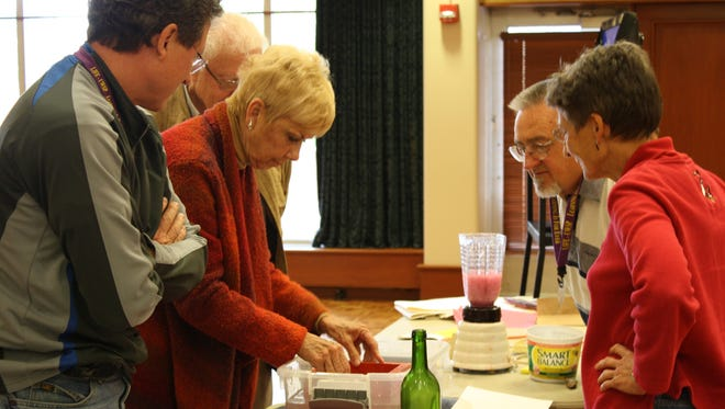 Papermaking is just one of the many topics covered in UWSP's LIFE Program classes.