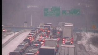 A look at Interstate 65 north at  Old Hickory Boulevard after a crash this morning closed the interstate.