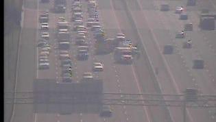 Multi-vehicle crash slows traffic on I-40 west in Davidson County.