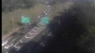 Accident at I-40 exit