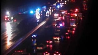 A semi fire and related wrecks have shut down I-65 at Vietnam Veterans Blvd