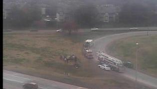 Overturned vehicle on I-440 E.