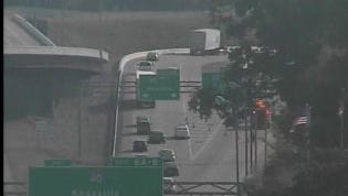 Southbound lanes of Briley Parkway have been shut down after a tractor trailer overturned near Interstate 40 on Tuesday afternoon.