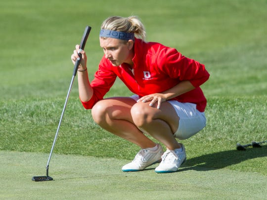 Dixie State golfer Shelby Madden competes in the Entrada