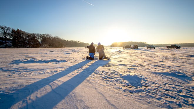 Cold weather has kept Minnesota lakes locked up with ice.