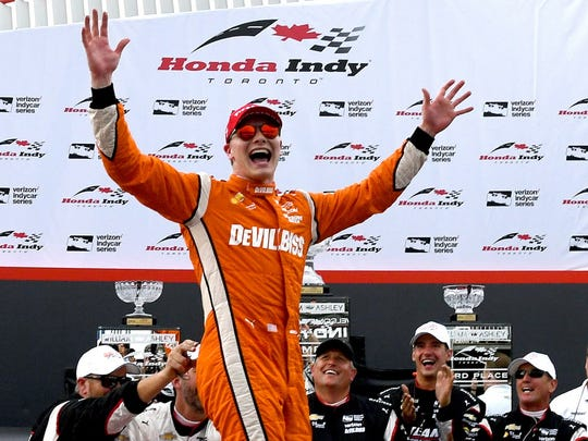 July 16: Josef Newgarden wins the Honda Indy Toronto on the Ontario street course.