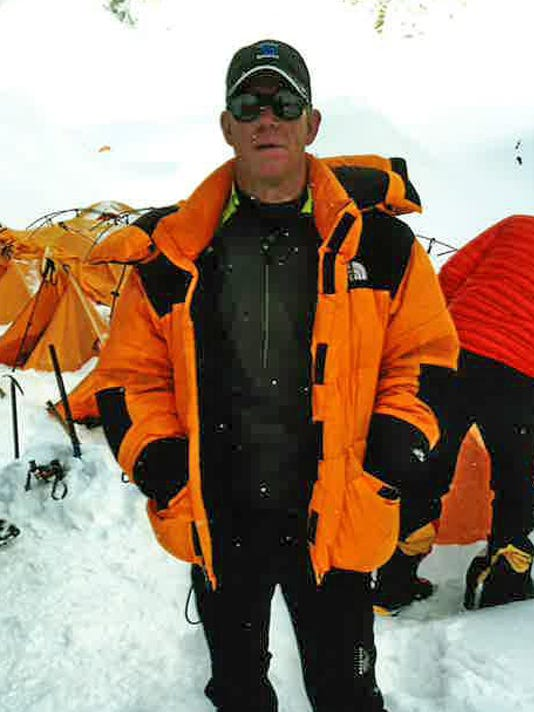 Andy Land on Mount Everest