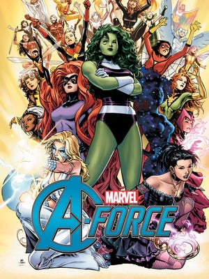 """Dazzler, Medusa, She-Hulk, Singularity and Nico Minoru are at the forefront of the powerful women starring in """"A-Force."""""""
