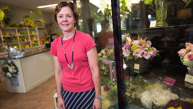 Mary Morely, co-owner of Angeline's Flowers and Greenhouse at 33 Washington Ave. in Endicott.
