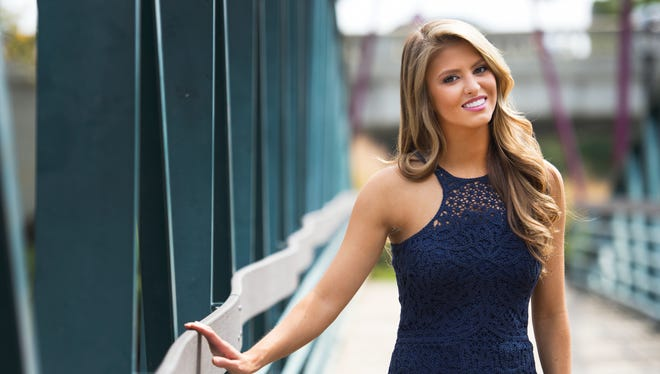 Rachel Wyatt, Miss South Carolina and the first runner-up for Miss America 2017, in Greenville on Friday, September 16, 2016.