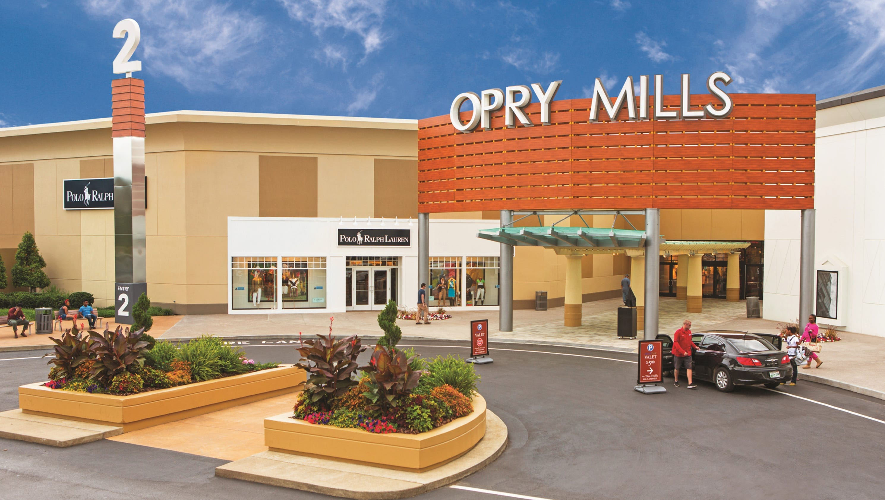 Known as the apple barn, Opry Mills is Tennessee's largest outlet mall with household names like Bath and Body Works, Game Stop, Earthbound, Old Navy, Lego, Forever 21, Payless and Verizon.