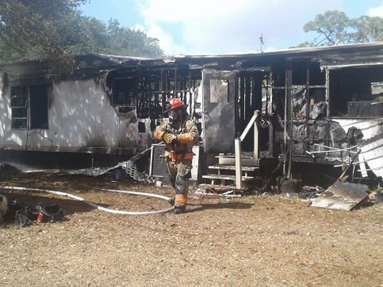 House Trailer Burns In North Fort Myers Fire Dog Killed