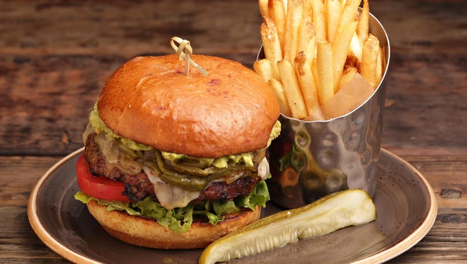 The Arizona burger from Red's Bar and Grill at the Wigwam Resort in Litchfield Park.
