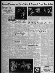 BC Sports History: Week of Oct. 29, 1965