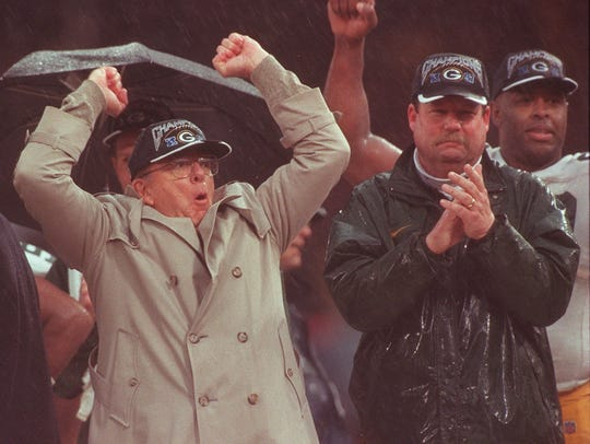 GM Ron Wolf and coach Mike Holmgren began building their Super Bowl team in 1992.