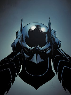 "Bruce Wayne puts on the famous cowl for the first time in ""Batman"" No. 24, which continues Scott Snyder's 'Zero Year"" origin story line."
