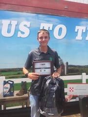"Reed Newell won the Tractor Supply's ""Great Neighbor"" Essay Contest"
