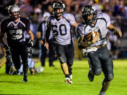 Kaplan running back Julius Johnson has been one of the area's top two-way performers for the Pirates this season.