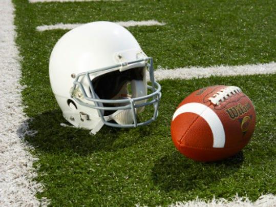 football field helmet