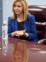 United States Senate candidate Marsha Blackburn talked