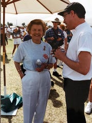 Early supporters of Desert AIDS Project included such notable desert residents as former first lady Betty Ford, who attended the AIDS Walk in 1995 and other events.